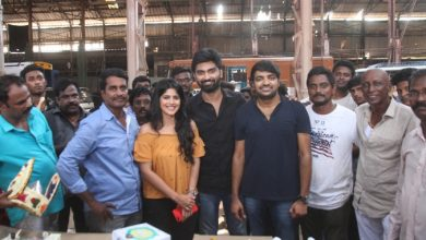 """Photo of Actor Atharva celebrated his birth day in the sets of """"Boomerang"""""""