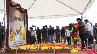 Photo of Actor Thiagarajan & Prashanth paid their respect to Dr.Kalaignar