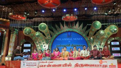 Photo of VELAMMAL STUDENTS PERFORMED AT THE CHENNAIYIL THIRUVAIYARU