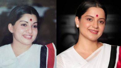 Photo of 'தலைவி' ஜெயலலிதா லுக் போஸ்டரை வெளியிட்ட படக்குழு!