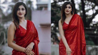 Photo of சிகப்பு நிற உடையில் பளிச் காட்டும் யாஷிகா ஆனந்த்..